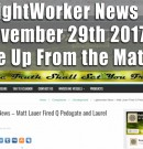 Lightworker News – Matt Lauer Fired Q Pedogate and Laurel Canyon